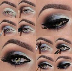 The classic smokey eye is created with black and grey, but although nowadays you can create the smokey with all different dark shaded colours, ...
