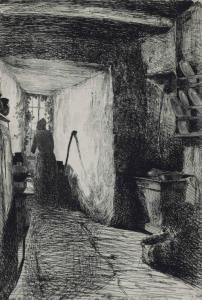 James Abbot Mcneill Whistler - The Kitchen, From Twelve Etchings From Nature, Original 1858
