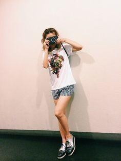 伊藤千晃(AAA)│the POOLのTシャツ・カットソーコーディネート