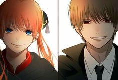 Okita Sougo x Kagura Romantic Anime Couples, Cute Anime Couples, Manga Art, Manga Anime, Okikagu Doujinshi, Gintama Funny, Gintama Wallpaper, Jojo Anime, Fairy Tail Ships