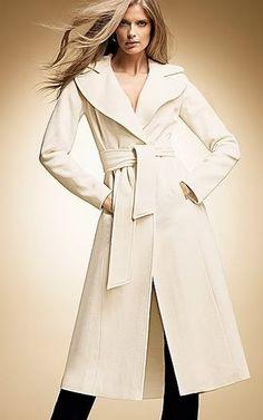 white wool wrap coat