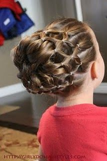 Someday my girls will have long enough hair to try all these fun hairstyles!
