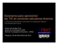 Escenarios #TIC en el aula by Ulises Hernandez