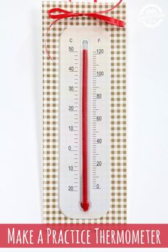 Teach your kids how to read a thermometer with this simple activity!