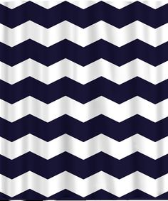 Custom Chevron Shower Curtain  Extra Wide 6 inch stripes Available Any Color InterDesign Fabric Various Sizes