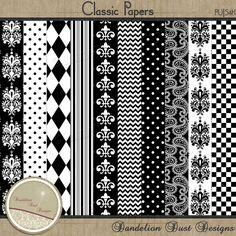 Digital Scrapbooking Classic Paper Pack #DandelionDustDesigns #DigitalScrapbooking