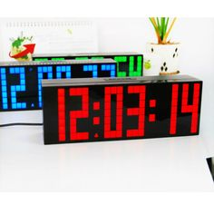 Hot Selling Large Led Digital Wall Sticker Home Decaration Wall Clock. In  Wall Stickers