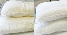 Si tus almohadas lucen amarillas no dudes en poner en práctica este simple truco. Quedarán como nuevas y con muy poco esfuerzo.
