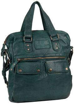 0f0231c65f0a Eine Tasche mit tollem Format: die Goody Handtasche von aunts & uncles  macht in Petrol