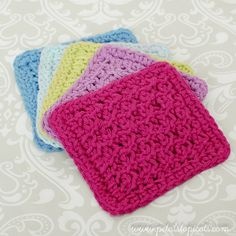 Make a set of charming coasters for your home or to give as a gift! You can also find mymatchingTunisian Crochet KitchenMatPattern here. If you are just getting started with Tunisian Crochet, you can check out myLearn Tunisian Crochet in a Weekseries to help you get started. Coaster Set Tunisian Crochet Patterns Here's what you …