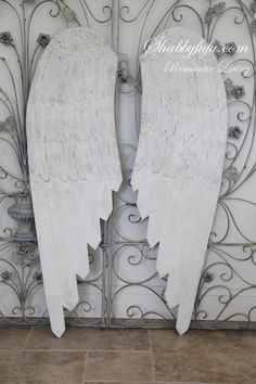 French Nordic Large Carved Wood Angel Wings...Exclusive