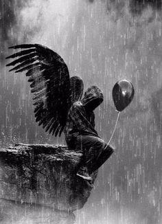 Image result for tragically sad angel