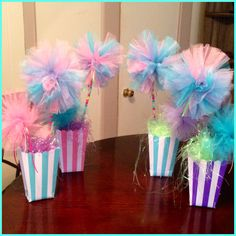 Made 10 of these PomPom Centerpieces, all under $10, pretty easy to make!!