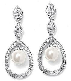Pearl Wedding Earrings.♥..¸¸.•♥•