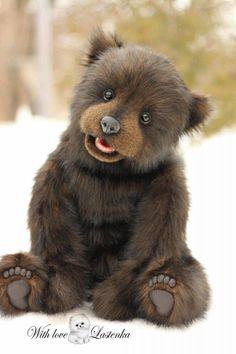 Diy Teddy Bear, Large Teddy Bear, Teddy Bears For Sale, Knitted Teddy Bear, Cute Teddy Bears, Steiff Teddy Bear, Plush Animals, Felt Animals, Baby Animals
