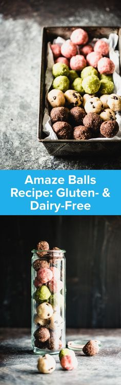 These no-bake Amaze Balls are the perfect paleo treat. They're totally gluten-free and dairy-free, plus they come in 4 flavor options. Word on the street is that the chocolate chip sea salt is the best. Get the recipe here! Paleo Sweets, Paleo Dessert, Gluten Free Desserts, Paleo Food, Paleo Diet, Paleo Recipes, Real Food Recipes, Yummy Recipes, Free Recipes
