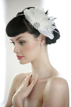 wedding hair accessory, wedding hairpiece, bridal hairpiece, 1920's hair accessorie, veil Deco Divine Charlie hair clip  hp5046