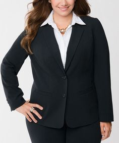 Look at this Lane Bryant Black Fitted Blazer - Plus on #zulily today!