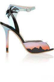 Sophia WebsterRio Sunset printed matte-satin sandals