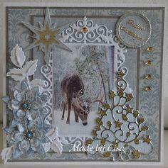 Voorbeeldkaart - Kerstkaart - Categorie: Scrapkaarten - Hobbyjournaal uw hobby website