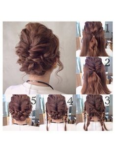 Cute hairdo that us easy too For a day when you just don't care but your hair looks terrible down # Braids bun military Fancy Hairstyles, Down Hairstyles, Coiffure Hair, Hair Arrange, Pinterest Hair, Hair Dos, Prom Hair, Bridesmaid Hair, Hair Hacks