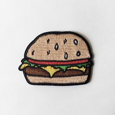 Image of Cheeseburger - Iron on patch