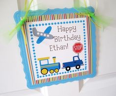 Transportation Welcome Door Sign for Boys Party | adorebynat   Boys love Transportation. Those little boys are always amazed by all things that are on the go. This welcome sign is designed in Transportation theme, it'll be sure to get your little guests ready for all the fun you have prepared! This sign is a perfect decor to be placed at the front door or gate.