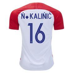 b6530802c Nikola Kalinic 16 Croatia 2018 World Cup Home Jersey Soccer Jerseys