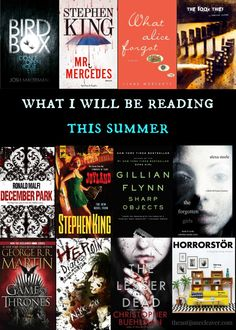 The summer reading list of a suspense/thriller/horror fan. Are you looking for something to read that may not be the current IT book or chick lit? These are the books that are on my summer reading list. This list also shows that if it has a beautiful cover then I'm probably going to read it,