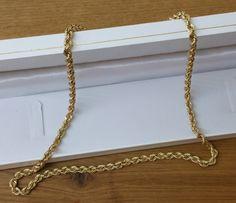Vintage Halsschmuck - 585er Gelbgold Kordelkette Halskette elegant GK103 - ein…