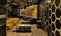 Ceiling Design Restaurant A lot of people prefer simple flat white ceilings. 65 ceiling design ideas that rocks. Restaurants With Striking Ceiling Designs Masa restaurant in bogota Restaurant Design Moderne, Deco Restaurant, Restaurant Interior Design, Modern Interior Design, Interior Architecture, Resturant Interior, Restaurant Offers, Design Shop, Cafe Design
