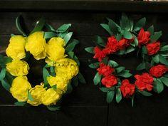 お花紙と紙テープで作れるハワイアン風リースの作り方 ペーパークラフト 紙小物・ラッピング ハンドメイド・手芸レシピならアトリエ