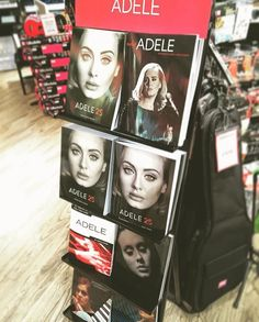 Our Adele stand at Musicroom Nottingham!  captured by @shanedermott a few days ago. #musicroom #adele #adele25 #adelehello #adele21 #pianovocalguitar #sheetmusic #beginners # by musicroomuk