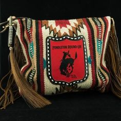 The Medicine Bag Saddle Blanket Tote w/ Pendleton Round-Up Back Number Patch (Pre-Order) Pendleton Round Up, Pendleton Bag, Blue Jeans, Saddle Blanket, Western Purses, Medicine Bag, Cowgirl Style, Western Style, Cute Purses