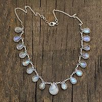 Moonstone pendant necklace, 'Luminous Light' on Novica great for bringing out your psychic side.