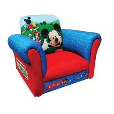 @Overstock - This Mickey Mouse chair provides a fun place for your child to sit, visit with friends or to watch a movie. With a hardwood frame and and a soft polyurethane, foam filled upholstery, this chair is both durable and comfortable.http://www.overstock.com/Home-Garden/Disney-Mickey-Mouse-Upholstered-Chair/7179814/product.html?CID=214117 $67.99