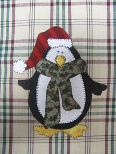 Jolly Penguin Applique PDF Pattern for Tea by quiltdoodledesigns, $3.00