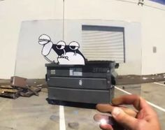 Fun Animated Drawings On Transparent Film That 'Interact' With Reality