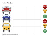 Transportation roll 'n' write printable game