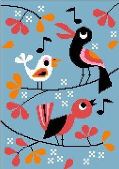 Cross stitch pattern Birds
