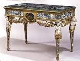 Marble and gilt bronze Italian Console table, c.1780. Purchased by Cornelius Vanderbilt 11, (Gilded Age railroad magnate), for his NYC mansion at 1 West 57th Street, in c.1892. The Console table was placed at, The Breakers mansion, Newport RI, in c.1926, when the NYC residence was demolished. ~~ (Image via: The Preservation Society of Newport County) ~~ {cwl}