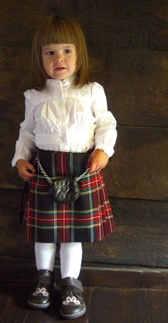 Wee little one in a tartan skirt made by Lady-Chrystel.