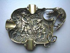 Antique Vintage Victorian Solid Brass Ornament by OblitusThesauros