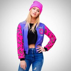 4d476cc5295 Printed Jacket Donuts Print Womens Bomber Jacket Baseball Fashion Jackets  Outerwear Type  Jackets Style  Fashion Collar  O-Neck Decoration  Print