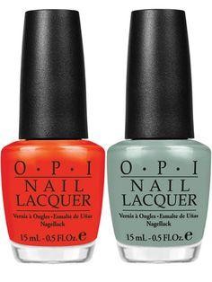 OPI's A Roll in the Hague, Thanks a WindMillion is an on trend combo for your next mani and pedi