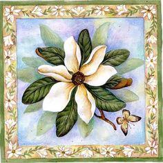 White Floral 1 Printable modpodge or scrapbooking