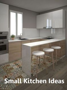 Browse photos of Small kitchen designs. Discover inspiration for your Small kitchen remodel or upgrade with ideas for organization, layout and decor. Kitchen Layout, New Kitchen, Kitchen Ideas, Kitchen Island, Kitchen Small, 10x10 Kitchen, Pantry Ideas, Awesome Kitchen, Kitchen Living