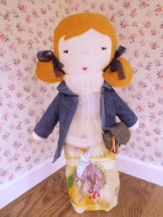 Plush handmade Couture Collection fabric girl doll by ohbAby1112, $120.00 #handmadedoll #fabricdoll #chanelinspired #westernfashion
