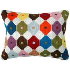 Jonathan Adler Chamomile Multi Color Bargello Pillow