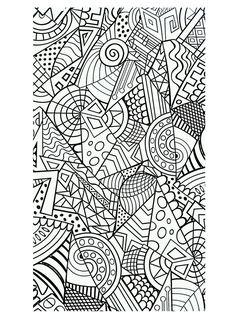 Galerie de coloriages gratuits coloriage-formes-geometriques-harmonieuses.